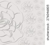 gray background with roses. cut ... | Shutterstock . vector #276046805