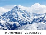 snow covered mountain top....