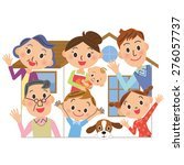 house familys three generations | Shutterstock .eps vector #276057737