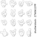 collection of hand sign | Shutterstock . vector #276061199