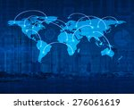 global business connection...   Shutterstock . vector #276061619