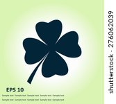 leaf clover sign icon. saint...