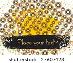 colorful circle background with ...