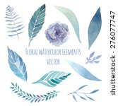 watercolor floral set with... | Shutterstock .eps vector #276077747