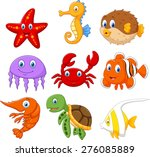 cartoon fish collection set | Shutterstock . vector #276085889