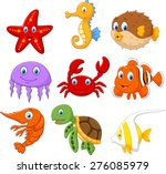 cartoon fish collection set | Shutterstock .eps vector #276085979
