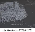 san francisco  usa  satellite... | Shutterstock . vector #276086267