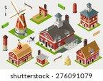 Isometric Farm Ville Old Barn...