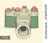 vintage retro camera. hand... | Shutterstock .eps vector #276092399