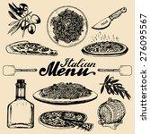 hand sketched italian menu.... | Shutterstock .eps vector #276095567