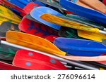 Bunch Of Plastic Colorful Oars