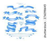 watercolor tape. set of vector... | Shutterstock .eps vector #276098645