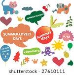 summer cute design elements  ...   Shutterstock .eps vector #27610111