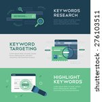 keywords optimization banners... | Shutterstock .eps vector #276103511
