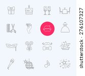 party and celebration icon set... | Shutterstock .eps vector #276107327