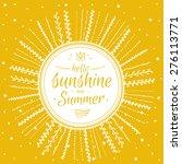 inspirational and motivational... | Shutterstock .eps vector #276113771