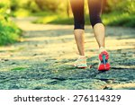 Young Fitness Woman Hiker Legs...