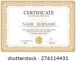 certificate  diploma of... | Shutterstock .eps vector #276114431