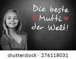 german mothers day message... | Shutterstock . vector #276118031