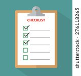 clipboard with checklist   Shutterstock .eps vector #276118265