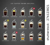 ice coffee drinks recipes icons ... | Shutterstock .eps vector #276123821