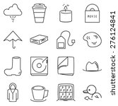 rainy day icons set | Shutterstock .eps vector #276124841