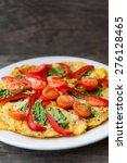 vegetarian pizza with... | Shutterstock . vector #276128465