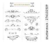 collection of vector flourishes.... | Shutterstock .eps vector #276132509