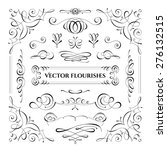 collection of vector flourishes.... | Shutterstock .eps vector #276132515