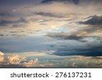 Beautiful Cloudy Sunset Sky...