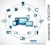 e  learning   webinar concept... | Shutterstock .eps vector #276137249