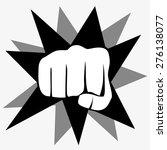 fist isolated on white... | Shutterstock .eps vector #276138077