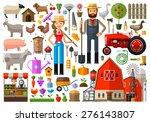 farm  farmhouse  farmyard...   Shutterstock .eps vector #276143807