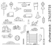 hand drawn urban city set of... | Shutterstock .eps vector #276155735