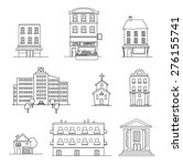 hand drawn urban city set of... | Shutterstock .eps vector #276155741