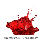 red juice splash closeup... | Shutterstock . vector #276158159
