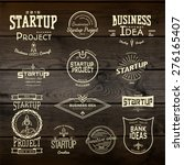 startup project badges logos... | Shutterstock .eps vector #276165407