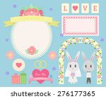 cute wedding set. set of... | Shutterstock .eps vector #276177365