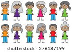 vector collection of diverse... | Shutterstock .eps vector #276187199