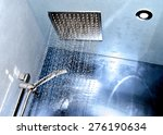 detail of modern ceiling shower | Shutterstock . vector #276190634