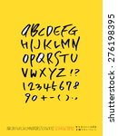 alphabet and numbers  ... | Shutterstock .eps vector #276198395