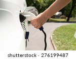electric vehicle charging | Shutterstock . vector #276199487