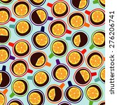 color pattern with cups | Shutterstock . vector #276206741