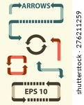 set of arrows and directions ... | Shutterstock .eps vector #276211259