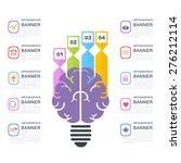 human brain business solution... | Shutterstock .eps vector #276212114