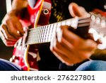 man playing music with a guitar ... | Shutterstock . vector #276227801