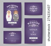 set of wedding invitations and... | Shutterstock .eps vector #276231437