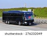frankfurt germany april 10 bus