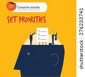 businesspeople setting... | Shutterstock .eps vector #276233741