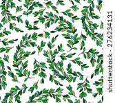 leaf pattern. seamless pattern | Shutterstock .eps vector #276234131